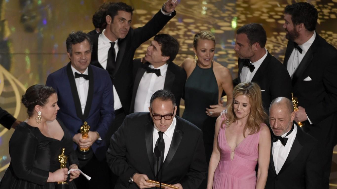 Leonardo DiCaprio Jokes While Getting Oscar Engraved